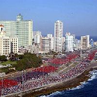 Palabras del Presidente de la República de Cuba, Fidel Castro Ruz, al inicio de la gran Marcha del Pueblo Combatiente contra el Terrorismo, el 17 de mayo de 2005